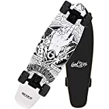 27' Cruiser Skateboard Retro Complete Boards Street Surfskate, 7 Strati Legno d'Acero Skate Penny...
