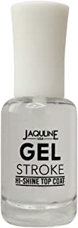 Jaquline USA Gel Stroke Hi Shine Top Coat, White, 8 ml