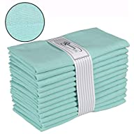 Ramanta Home 12-Pack 100% Cotton Dinner Napkins 18 by 18-Inch Soft Absorbent Comfortable - Ideal for Events and Regular…