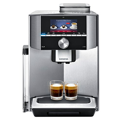 Siemens TI915531DE EQ.9 s500 Kaffeevollautomat (1500 Watt, maximales Aroma, vollautomatische Dampfreinigung, Baristamodus, sehr leise, iAroma) edelstahl