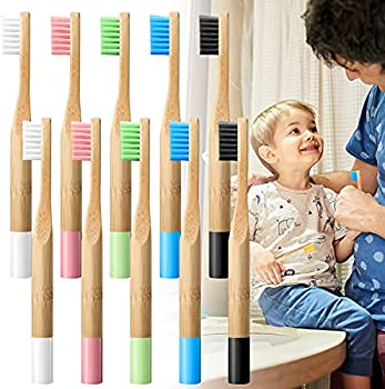 10-Pieces SOOQOO Biodegradable Bamboo Toothbrushes