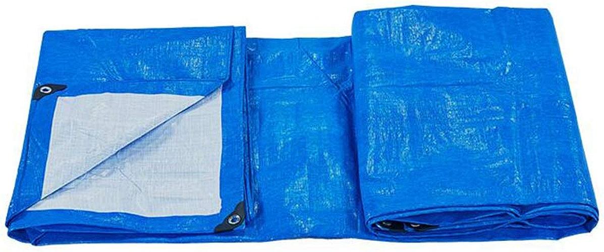 MuMa Bache PE épaissir Imperméable Imperméable Crème Solaire Ombre Plastique Un Camion (Couleur   bleu - blanc, Taille   5  6m)