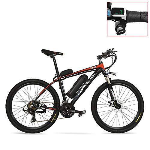 LANKELEISI T8 36V 20Ah Potente Bici elettrica, Mountain Bike da 240 W, Adotta Forcella Ammortizzata, Doppio Freno a Disco, Bicicletta di Assistenza al Pedale