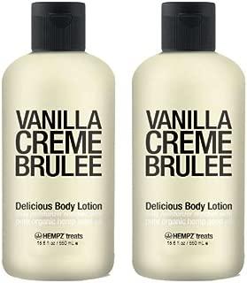 Hempz Treats Delicious Body Lotion Vanilla Creme Brulee 18.6 fl oz - 2 Pack