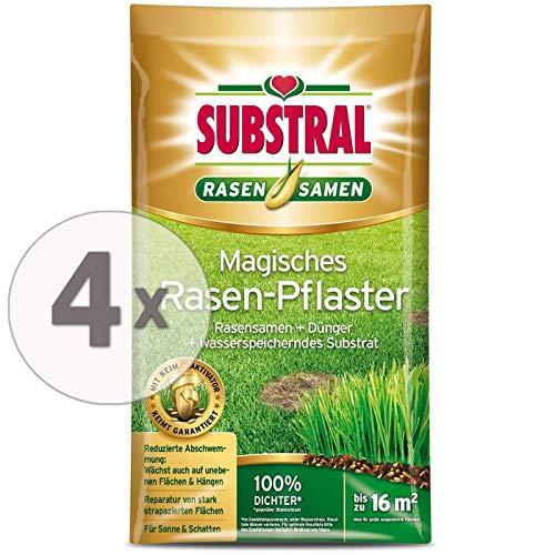 SUBSTRAL Débroussailleuse Magique 14,4 kg – 3 en 1 mélange de semences de gazon et d'engrais