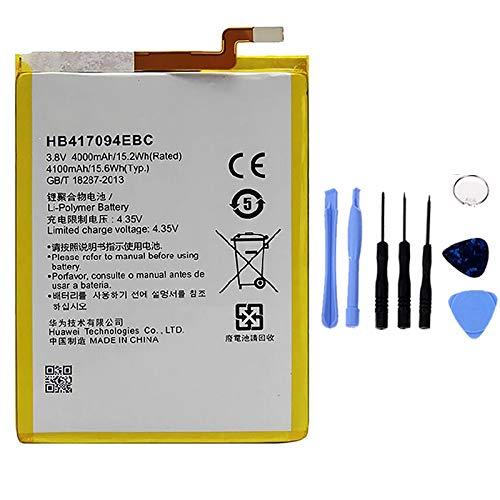 Ellenne - Batería Compatible con Huawei Ascend Mate 7 HB417094EBC AD de Alta Capacidad 4100 mAh con Kit de desmontaje Incluido