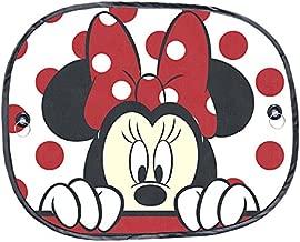 Plasticolor 003815r01Disney Mickey y Minnie Peek-A-Boo Ventana Lateral Parasol 2Piezas, 1Paquete