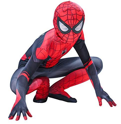 Volwassen kinderen Spider-Man weg van huis Cosplay Kostuum Spiderman Superhero Bodysuit Spandex pak op maat gemaakt 130-140cm Zwart