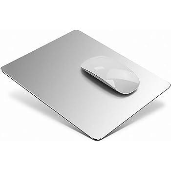 マウスパッド Vaydeer 金属マウスパッドアルミニウム合金マウス・パッド マウスパッドおしゃれ,滑らかに操作ができ、超薄型 硬質で両面滑り防止と防水設計で、高級感 耐摩耗性 高耐久性 レーザー&光学式マウス対応(20*17*0.25cm)