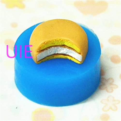 LBG106 Silicone Mold Bitten Cake Bread Chocolate Mold Dollhouse Miniature Sweets Kawaii Cabochon Polymer Clay Wax Resin Mould