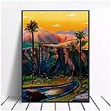SDGW California Sur Lienzo Pintura Arte Impresión Cartel Imagen Pared Minimalista Dormitorio Sala De Estar Decoración-50X70Cm Sin Marco