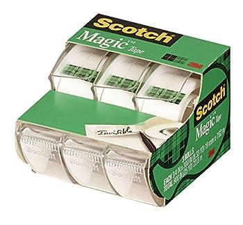 3M Scotch Magic Tape 3/4 x 300-inches-Transparent-3 ct  3105  3-Pack