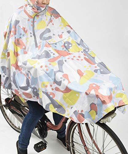 BRUNOブルーノポンチョ雨具レディースメンズ自転車リュックアウトドアリフレクター反射フェススポーツ観戦コーラルBDE040-CR