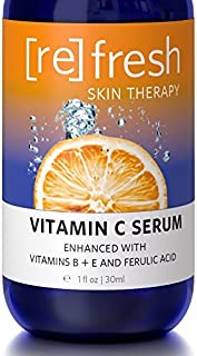 Vitamin-C Serum for Face with Hyaluronic Acid - Organic and All Natural Ferulic Acid and Vitamins B and E: Clinical Streng...