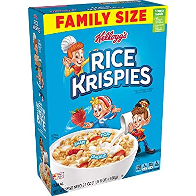 Kellogg's Rice Krispies, Breakfast Cereal, Good Source of 8 Vitamins and Minerals, 24oz Box