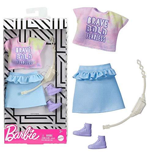 Barbie Fashion - Komplettes Outfit - GHW86 - Rock + T-Shirt + Korb + Banane - Neu