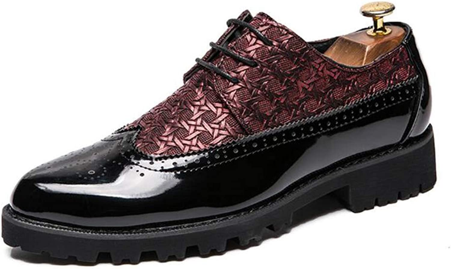 Y-H Men's shoes, Artificial PU Spring New Formal shoes,Wedding Night Club Office & Career Party & Evening,Red,38