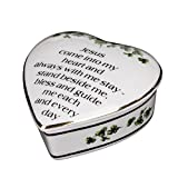 CBE Porcelain Irish Shamrock Jewelry Keepsake Box (First Communion Box)