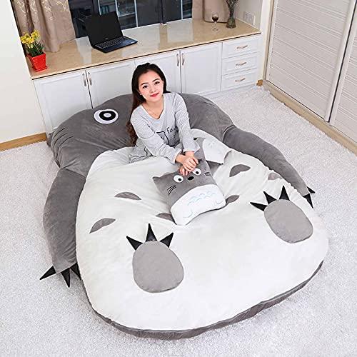 ZPAGBFWJ Tatami Mattres Anime Totoro Lazy Plush Bed Lindo y Creativo Totoro Saco de Dormir Alfombras Transpirables Totoro Bed Tatami Colchón para Dormitorio, Regalos para niños,001,170 * 220