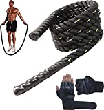 Best Weighted Jump Ropes - FITNESS INDIA™ Heavy Weighted Skipping Rope with Gloves Review