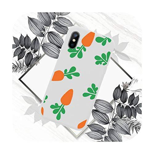 Lindo Carrot Funda de teléfono de color caramelo para iPhone 11 12 mini Pro XS MAX 8 7 6 6S Plus X SE 2020 XR-a13-iPhone12PROMAX