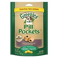 【海外直送】グリニーズ 犬用 アレルギーフォーミュラ ダック&えんどう豆味 ピルポケット【カプセル用】(25個入り) GREENIES Allergy Formula Dog Pill Pockets Duck and Pea Capsule, 6oz