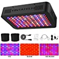 1000W LED Grow Light, Growing Lamp Full Spectrum for Indoor Hydroponic Greenhouse Plants Veg and Flower with Double Switch & Dual Chip, Daisy Chain, UV & IR, Adjustable Rope Hanger (100pcs 10W LEDs)