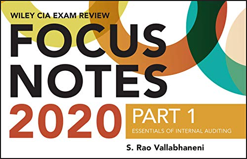 Image OfWiley CIA Exam Review 2020 Focus Notes, Part 1: Essentials Of Internal Auditing