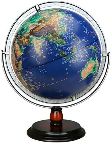 Globo de 12.6 pulgadas mundo para niños rotación de 720° con soporte, para adultos geográficos, regalo educativo, decoración para oficina en casa