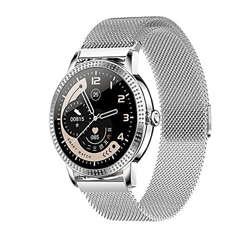 Reloj inteligente 1 9 pulgadas círculo completo pulsera deportiva IP67 impermeable múltiples modos deportivos soporte para uso en múltiples países/regiones-oro polvo silicona cinta-F