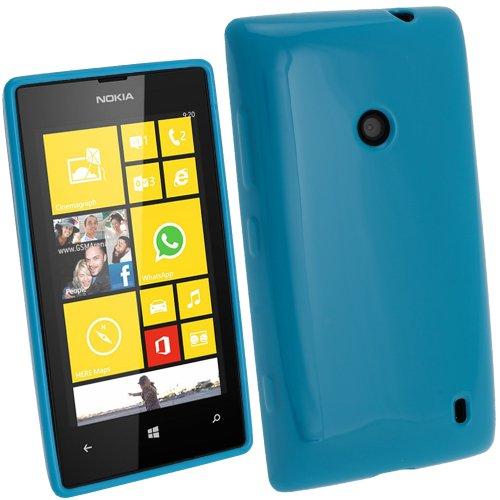 igadgitz Azul Case TPU Gel Funda Cover Carcasa para Nokia Lumia 520...