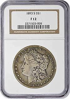 1893 S Morgan Dollar F12 NGC