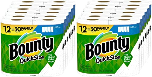 Quick-Size Paper Towels, 12 Family Rolls = 30 Regular Rolls (Pack of 2)
