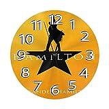 FETEAM Reloj de Pared Alexander Hamilton Relojes de Pared Funciona con Pilas Silencioso Decoración Pared para Cocina, Salon, Oficina, Dormitorio 25cm
