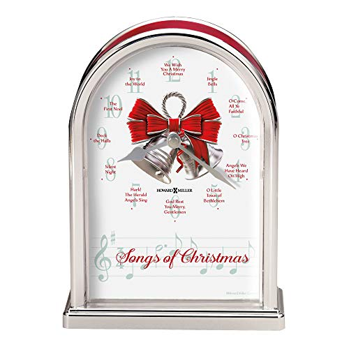 Howard Miller Songs of Christmas Table Clock 645-820 – Holiday Carol Musical Chimes
