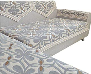 OctoRose  Chenille Lace Sectional Sofa Throw Covers Furniture Protector Sold by Piece Rather Than Set (Grey, 35x70)