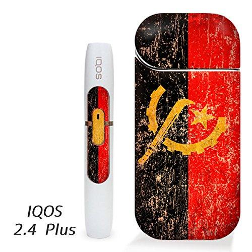 アイコス用 スキンシール ( 2.4Plus 用 ) アンゴラ 国旗 (アンティーク) シール ステッカー iQOS用,
