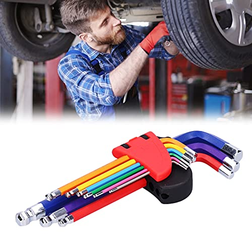 Llave hexagonal, llave hexagonal con punta de bola, ligera para mantenimiento de automóviles, desmontaje y montaje mecánicos, mantenimiento de bicicletas para el taller de reparación de