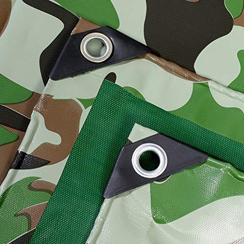 ZAQI Grande Couverture de Feuille de bâche de Camouflage, Tente Industrielle de PVC de Camo de Camping extérieur imperméable résistant, 0.42 millimètres (Size : 3m×6m/9.8×19.7ft)