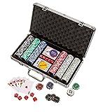 Philos 3757 - Pokerkoffer, Aluminiumkoffer, 300 Casino-Pokerchips (11,5g) -