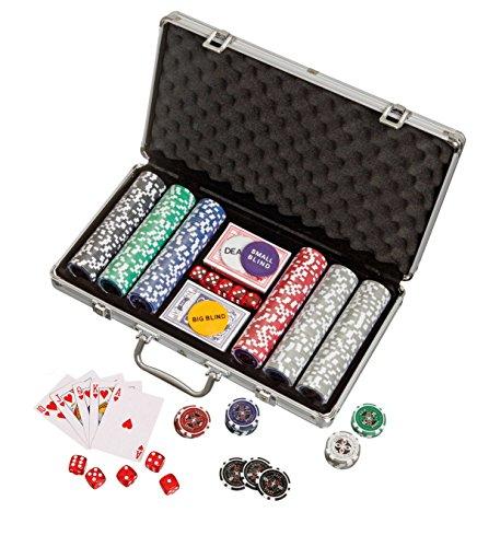 Philos 3757 - Pokerkoffer, Aluminiumkoffer, 300 Casino-Pokerchips (11,5g)