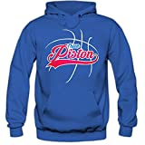 Photo de True Piston #3 Sweat à Capuche | Adulte Homme | Basketball | Play Offs | Champion | Basketball Hoodies | American Sports | USA | Hoody, Couleur:Blau (Royalblue F421);Taille:Medium