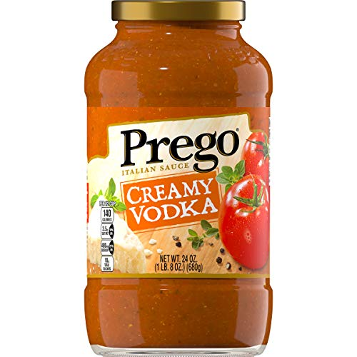 Prego Pasta Sauce, Creamy Tomato Vodka Sauce, 24 Ounce Jar (Pack of 6)