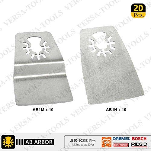 Best Deals! Versa Tool AB-K23 20 PC 52mm Flush Cut (8mm Offset Mount), Flat Cut Stainless Steel Scra...