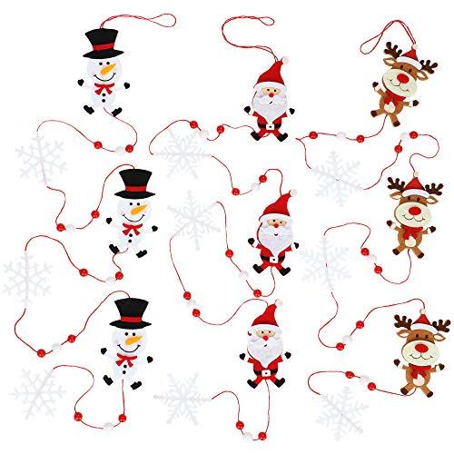 com-four® 3X Guirnalda de Fieltro en Navidad - Guirnalda de Navidad Hecha de Fieltro - Decoraciones de árboles de...