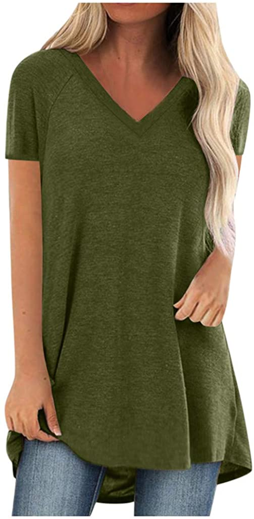 Womens Tops 3/4 Sleeve T Shirts Women Cute Graphic Blessed Shirt Funny Inspirational Teacher Fall Tees Tops Green