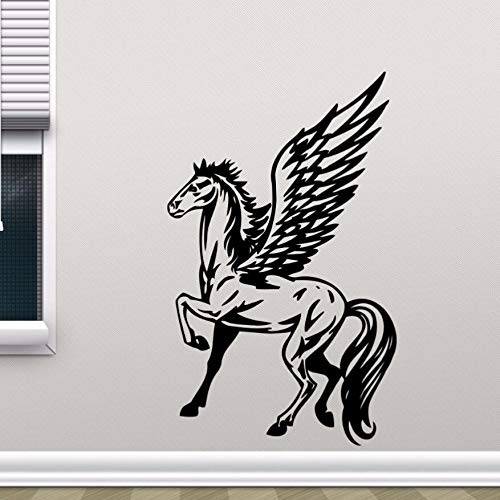 JXFM DIY Customized Winged Horse Pegasus Wandtattoo abnehmbare Einhorn Vinyl Wandaufkleber Home Decoration Kinderzimmer Tapete abnehmbare Wandbild