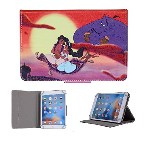 Funda para Kindle Kindle, Disney, para Kindle Fire: 7, HD 8, HD 10 (todas las tabletas Amazon de 8 pulgadas, Aladdin y Gene)