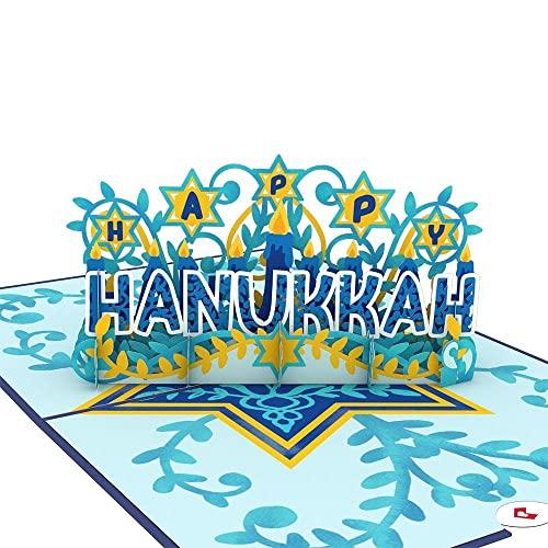 Lovepop Happy Hanukkah Pop Up Card, 5x7 - 3D Greeting Card, Hanukkah Greeting Cards, Jewish Holiday Cards, Chanukah Cards for Kids