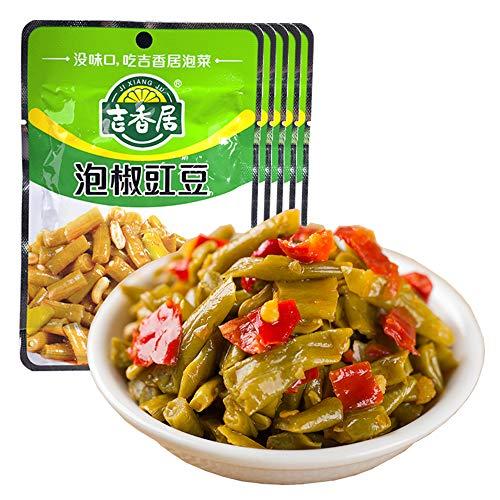 漬物 泡菜 キムチ 咸菜 榨菜 下饭菜 泡椒豇豆 吉香居泡椒豇豆 80g*5袋